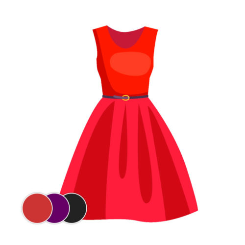 Filtr AR - Kolorowa Sukienka 3D