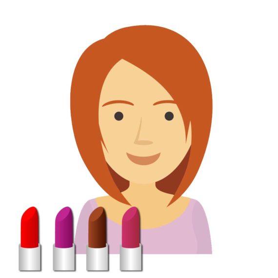 filtr na instagram - kolorowe szminki