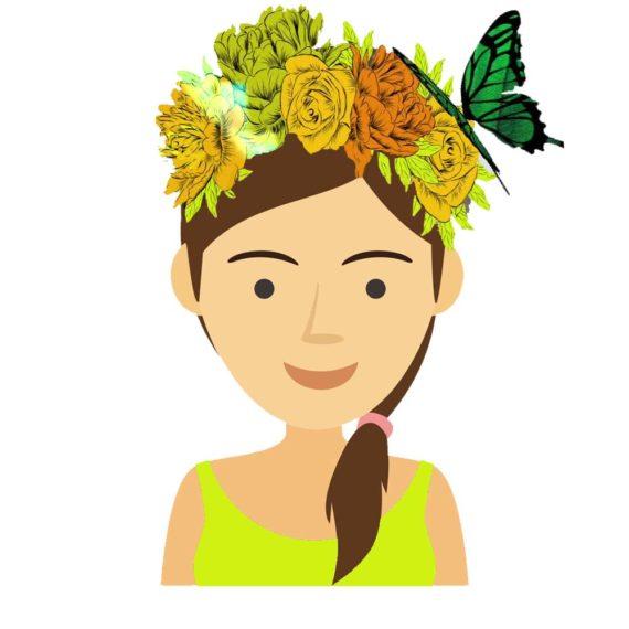 filtrs na instagram - wiosenny wianek nad głową